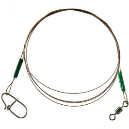 Cormoran 1x19 Wire Leader - Swivel and Corlock Snap Hook 6kg 60cm 2ks